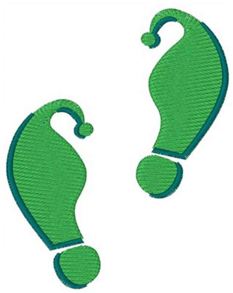 printable elf footprints green elf footprints embroidery design from 1z embroidery