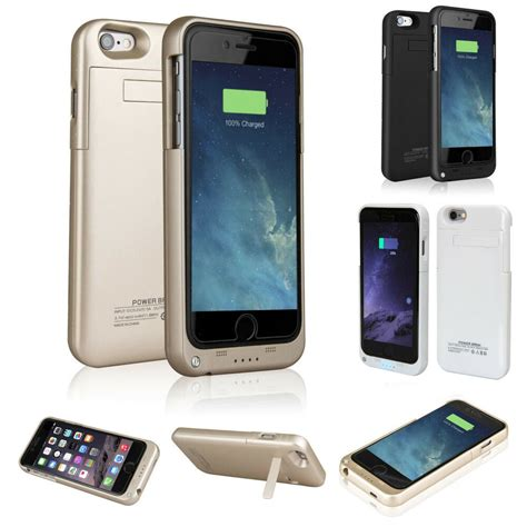 external battery backup power bank charger cover for iphone 6 6s 4 7 quot 5 5 quot ebay