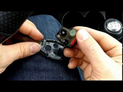 honda key fob remote battery replacement  civic accord fit crv pilot youtube