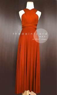 orange dresses for wedding maxi burnt orange bridesmaid prom wedding infinity dress