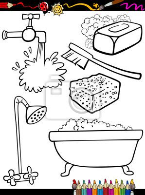 washing coloring pages for preschoolers fototapete hygiene objekte malvorlagen seife