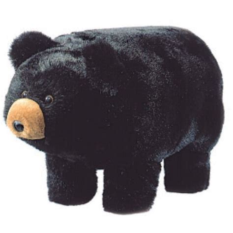 black bear ottoman plush black bear footstool
