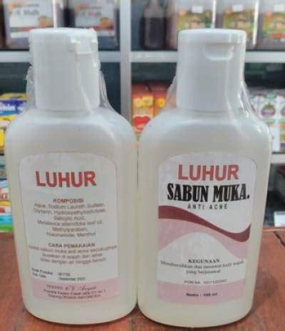 Sabun Wajah Acnes luhur kosmetik sabun muka luhur sabun wajah luhur sabun muka luhur anti acne manfaat sabun