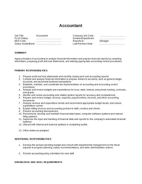 Accounting Descriptions by Accountant Description Images