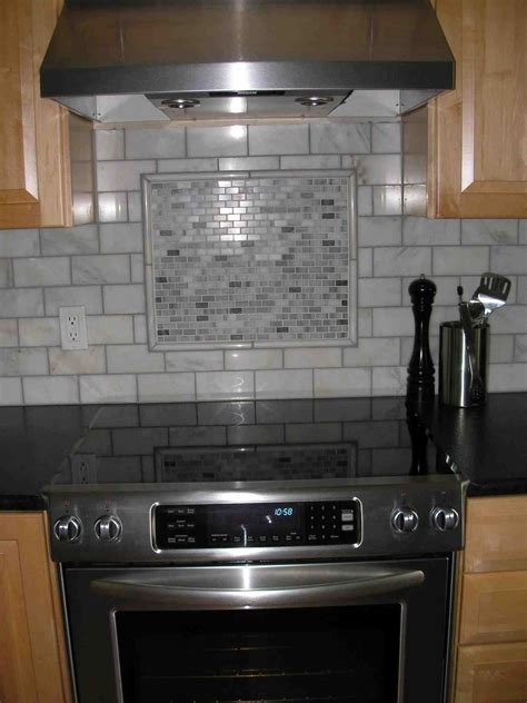 tile accents for kitchen backsplash kitchen backsplash white subway tile with accent