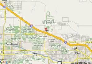 map of comfort suites palm desert palm desert