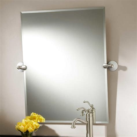 Brushed Nickel Framed Bathroom Mirror by Brushed Nickel Framed Bathroom Mirror Home Design Ideas