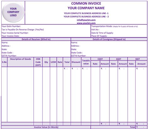invoice format under service tax rules download sle invoice with gst rabitah net