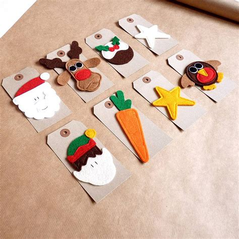christmas gift tag with handmade felt design by be good