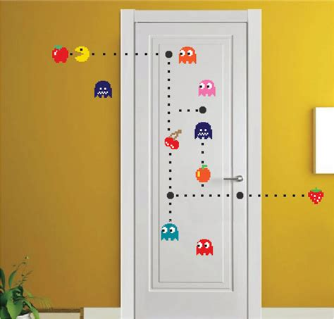 pac wall stickers pac wall decal wall decal murals bedroom diy pacman stickers pacman