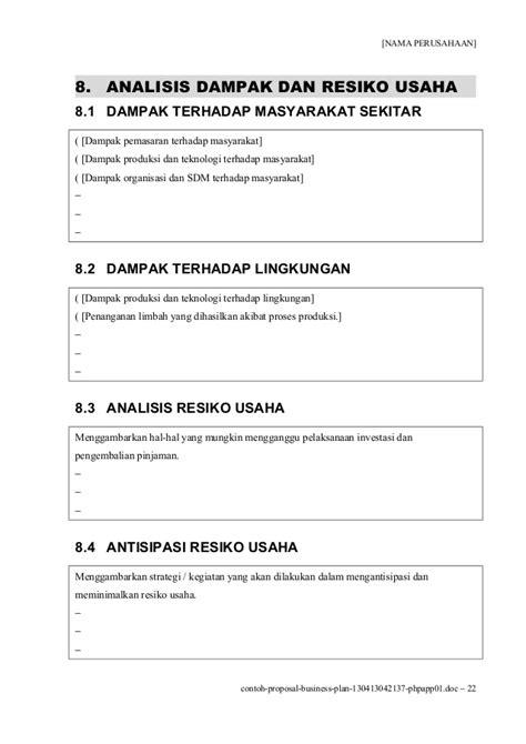 membuat business plan perusahaan contoh proposal business plan