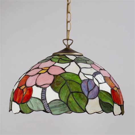 stained glass ceiling light covers pendant ceiling light with shade floral 16 inch