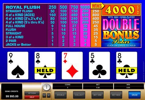 play double bonus poker  microgaming