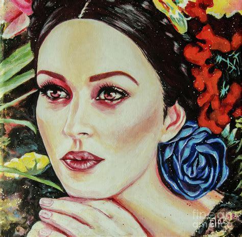 monica bellucci painting monica bellucci painting by elaine berger