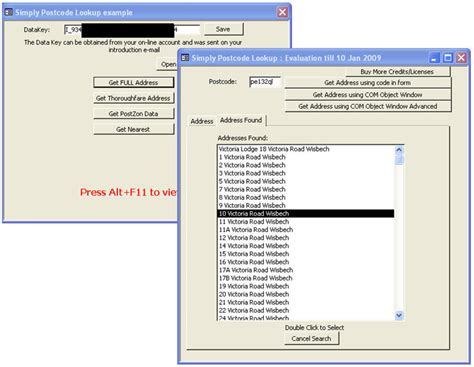 Address Finder From Postcode Postcode Finder For Microsoft Access Database