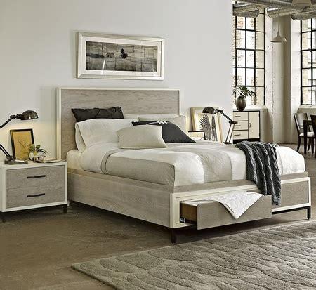 modern gray platform storage bedroom set queen zin home