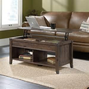 sauder coffee table carson forge lift top coffee table 420421 sauder