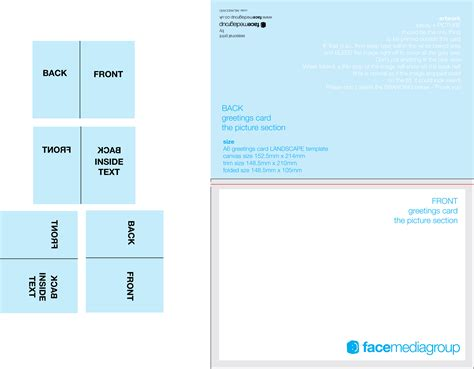 Microsoft Word Blank Card Template Dimensions by Free Blank Greetings Card Artwork Templates For