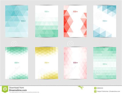 template for a4 book cover set of templates covers for flyer brochure banner