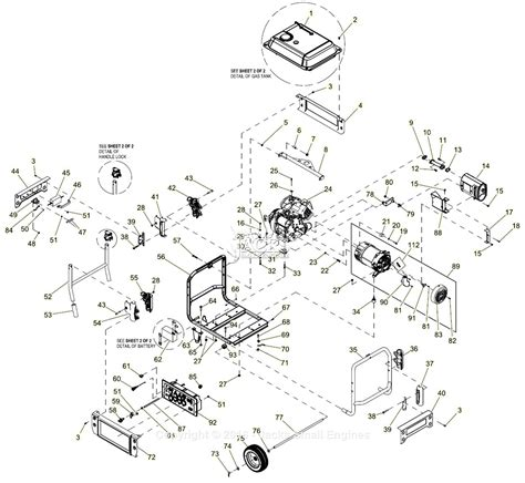 generac parts diagram generac 0059300 xp6500e parts diagram for assembly