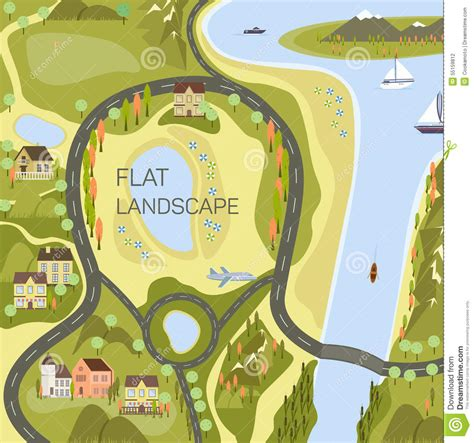 map design viewer top view of the map stock vector image 55159812