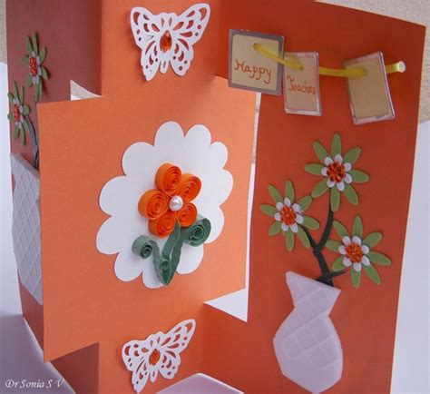 card crafts cards crafts projects teachers day card recycled