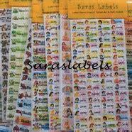 Stiker Nama Pesan jual stiker label nama di jakarta riana saraswati