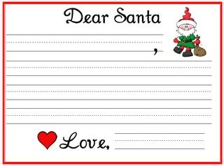 dear santa writing paper pin by sunnydays on december