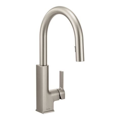 moen kitchen faucet moen s72308srs sto single handle high arc pulldown kitchen
