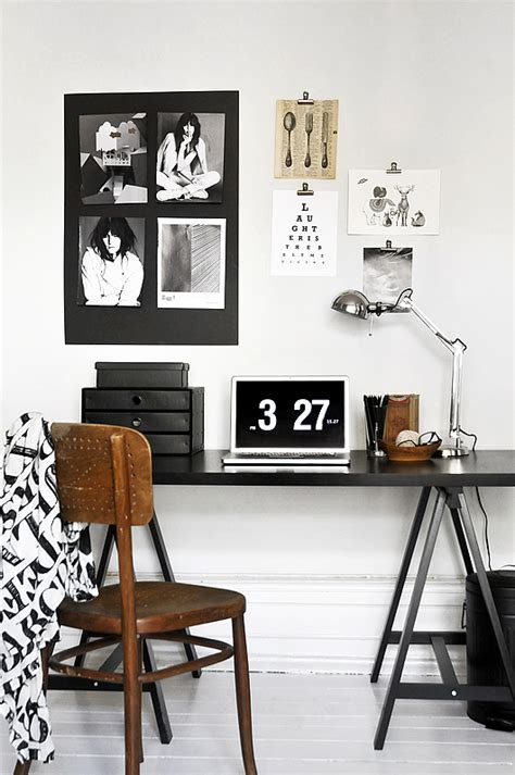 black and white home office decorating ideas trendenser