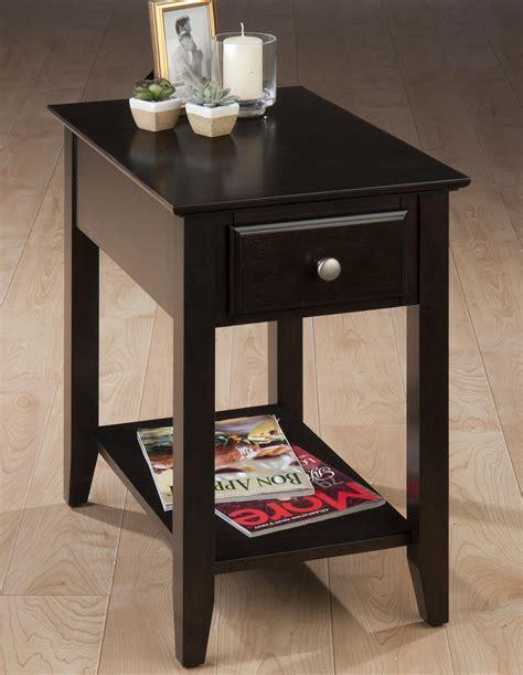 espresso end table with drawer belfort essentials espresso casual espresso chairside end