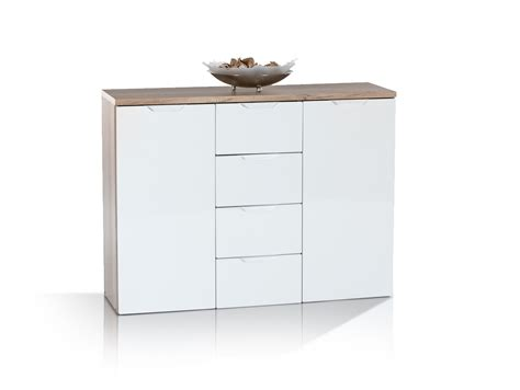 kommoden sideboards joa kommode sideboard 2 eiche sonoma weiss 106x81x35
