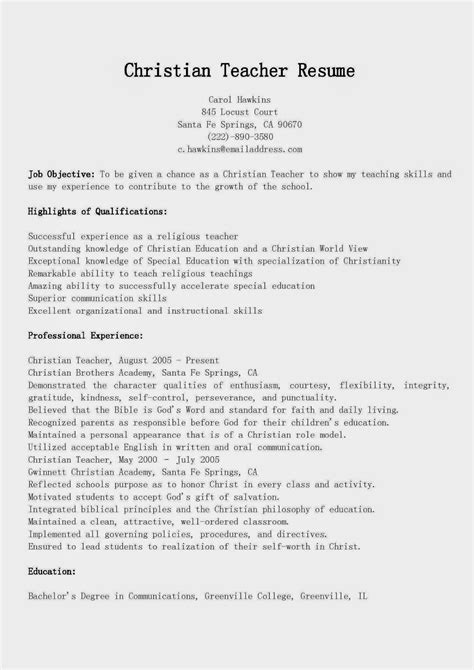 sle resume for college teaching sle cover letter for