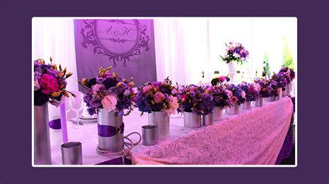 Tischdeko Hochzeit Violett by Tischdeko 187 Elegante Hochzeit In Dunkelviolett Rosa