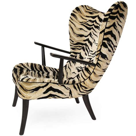 zebra print chair and ottoman danish zebra print lounge chair and ottoman for sale at