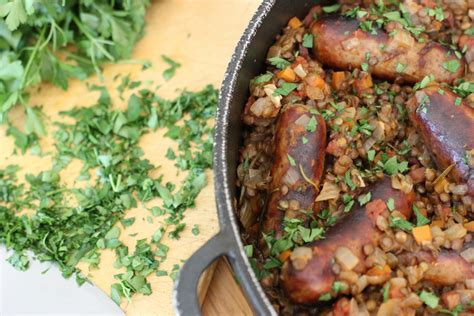 lentil and sausage crock pot sausage and puy lentil pot and loving lentils