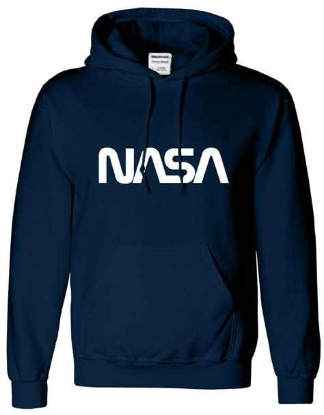 Hoodie Nasa Roffico Cloth 1 nasa mens unisex hoodies hooded boy sweatshirt sweat hoody