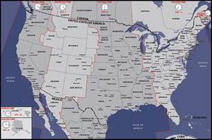 usa map time zone map usa time zones map digital vector creative