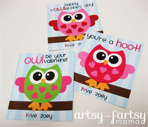 owl valentines day card template free printable owl valentines allcrafts free crafts update