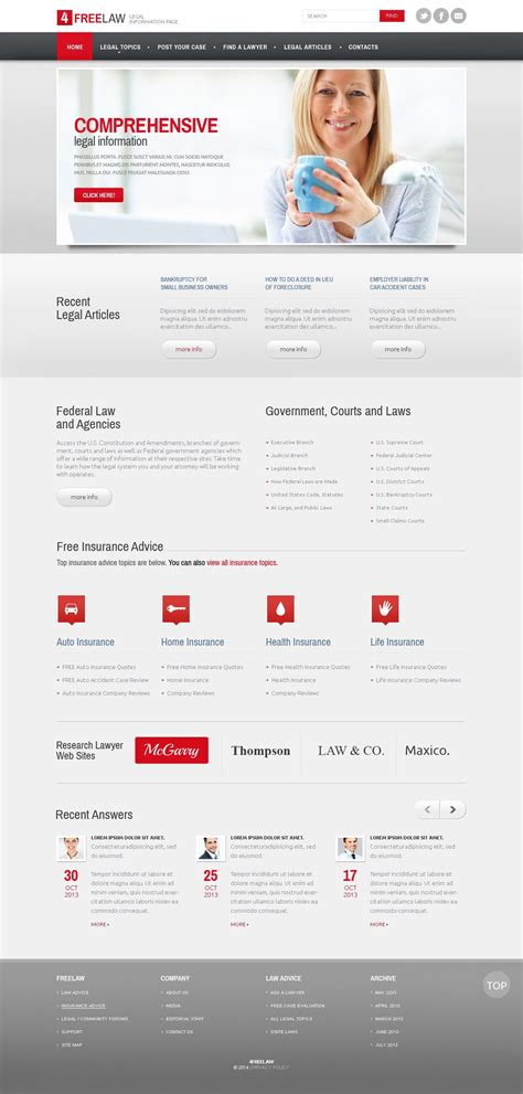 Lawyer Responsive Website Template Website Template Modern Website Template Html Templates Lawyer Web Templates