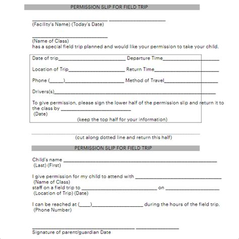 generic permission slip template 36 permission slip templates free pdf doc formats