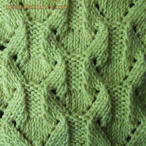 diamond shaped knitting pattern lace leaves diamond shape