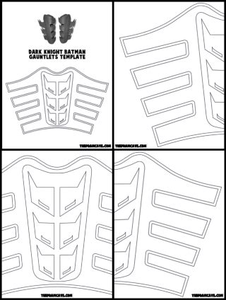 Gauntlet Template by Template For Batman Gauntlets The Foam Cave