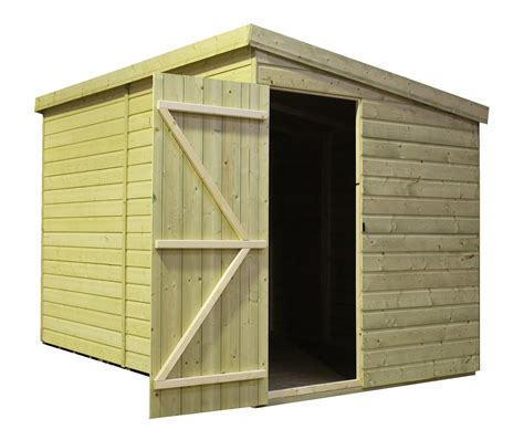 Shed With Side Door 14 X 5 Windowless Pressure Treated Tongue And Groove Pent