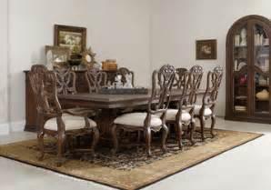 adagio rectangular pedestal dining room set by