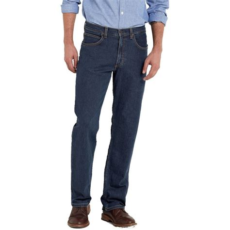 lee comfort fit lee brooklyn mens regular comfort fit jeans dark stonewash