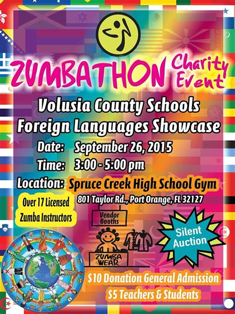 Volusia County School Calendar 2015 Zumbathon Charity Event For Volusia County Schools Foreign