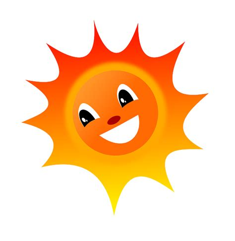 vector gratis sol verano calor feliz riendo imagen