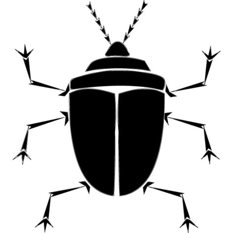 Ie8 Outline Bug by Vector Bug Silhouette Free Vector Free Vectors