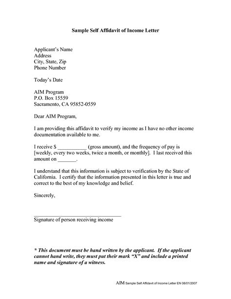 Sle Letter Of Support From Family And Friends affidavit letter template 28 images affidavit letter